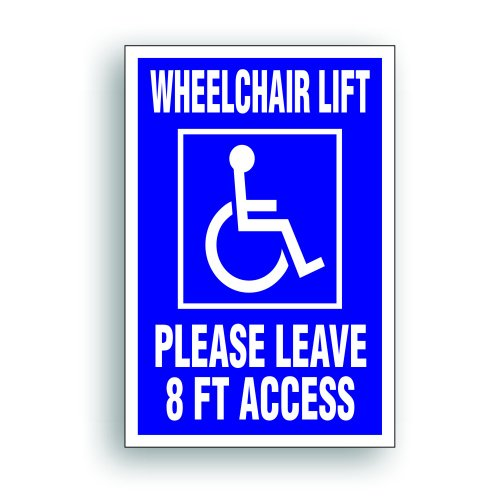 (Solar Graphics USA Magnet Magnetic Sign - Wheelchair Lift 8 Ft For Handicapped Van, Bus, Vehicle with Disability Lift - 4 x6 inch)