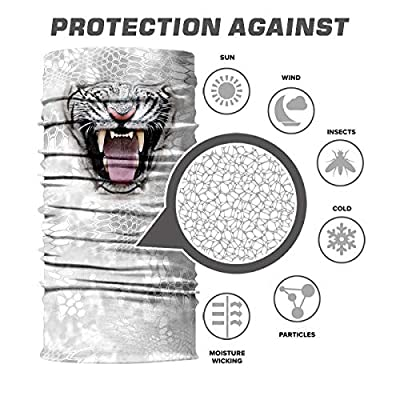 MIRKOO 3D Breathable Seamless Tube Face Mask, Dust-Proof Windproof UV Protection Motorcycle Bicycle ATV Face Mask for Cycling Hiking Camping Climbing Fishing Hunting Motorcycling(LION-105): Clothing