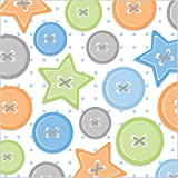 16-Count 3 Ply Paper Beverage Napkins, Cute as a Button Boy