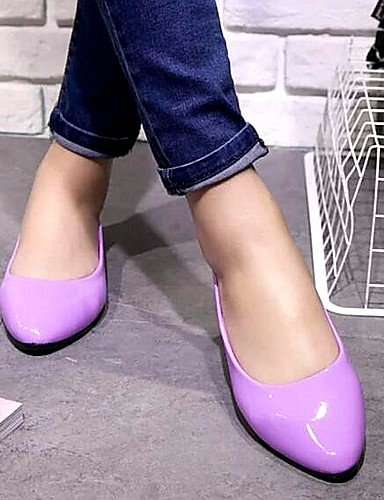 DFGBDFG PDX/Damen Schuhe Libo New Style Hot Sale flach Heel Comfort Wohnungen Office & Karriere/Casual Beige/Lila/Blau/Pink, purple-us6/eu36/uk4/cn36 - Größe: One Size