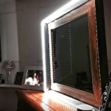 corner makeup vanity table with lighted mirror Plug N' Play Led Vanity Mirror Lights for Makeup Vanity Table Set in Dressing Room Specially Designed to be Flexible 6000K Daylight White 11.5ft of LEDs (Mirror Not Included)