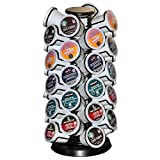 Coffee Pod Holder Carousel Holds 40 Single Cup Coffee Pods in Matt Black