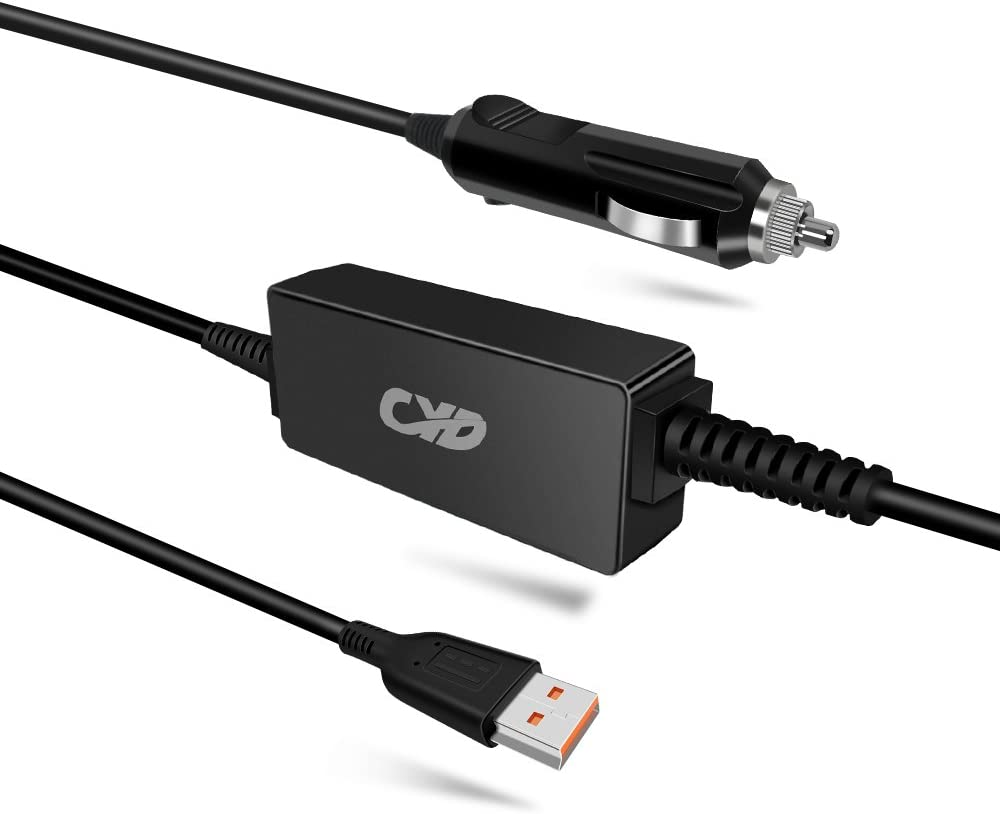 QYD 65W Laptop Car Charger Replacement for Power Adapter Lenovo Yoga-3 Pro Miix 1370 11 1170 14 1470 900 900S 700 Pro 4 Pro Convertible Ultrabook Tablet Ideapad 700s 14