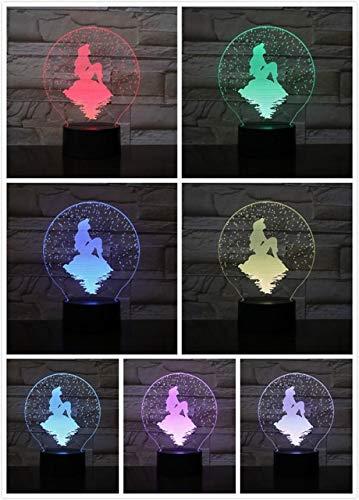 Luz de noche para niños, princesa Rapunzel Serie 3D LED USB ...