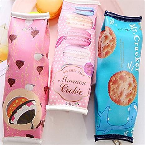 en similicuir organiseur de sac avec fermeture /Éclair Fablcrew Trousse originale fa/çon /« carton de lait /» pour bureau fournitures scolaires 20 * 5 * 6 cm bleu