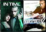 Transporter 2 & In Time [DVD] 2 Pack Crime Mystery Action Movie Set