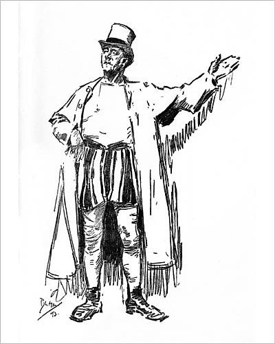 [Photographic Print of The Showman - An Extinct Type. - character portrait] (Circus Barker Costume)