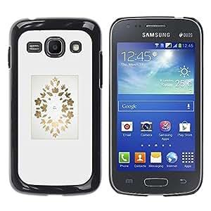 Be Good Phone Accessory // Dura Cáscara cubierta Protectora Caso Carcasa Funda de Protección para Samsung Galaxy Ace 3 GT-S7270 GT-S7275 GT-S7272 // Gold Maple Leaf Autumn Leaves Min