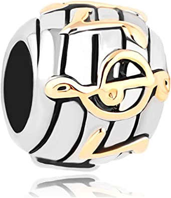 Amazon Com Fit Pandora Charms Silver Plated Music Notes Charms Silver Plated Jewelry Sale Cheap Beads European Bracelets Jewelry
