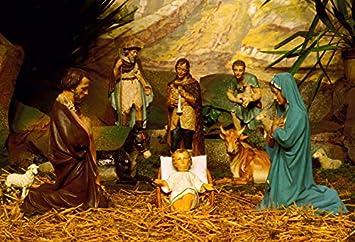 Amazon Com Baocicco Jesus Christ 7x5ft Vinyl Photo Backdrop Nativity Of Christ Painting Photo Background Stable Birth Of Jesus Newborn Ceremony Wallpaper Decoration Portrait Prop For Baby Camera Photo
