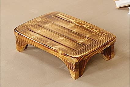 Genial Welcare Burned Handcrafted 100% Solid Wood Step Stool Foot Stool Kitchen  Stools Bed
