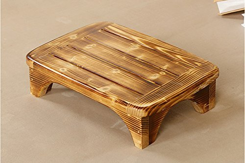 Welcare Burned-Handcrafted 100% Solid Wood Step Stool-Foot Stool Kitchen Stools Bed Steps Small Step Ladder Bathroom Stools by Welcare