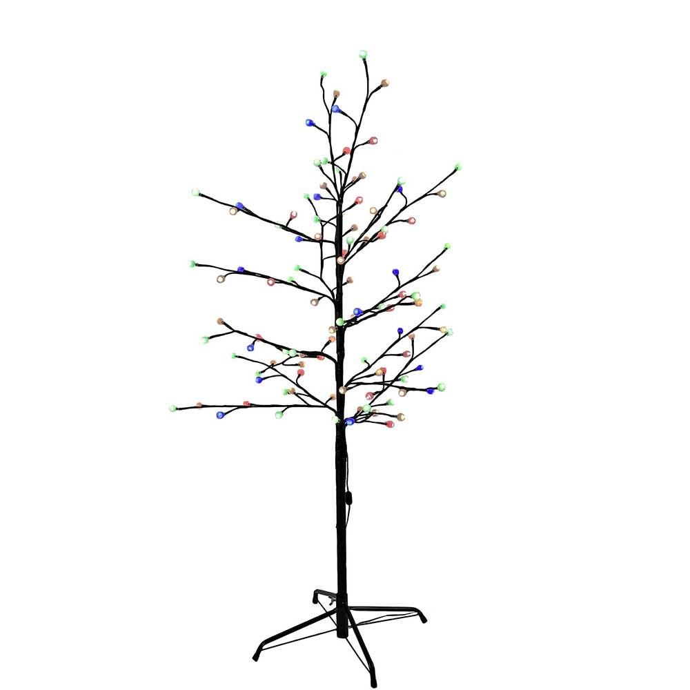 Kurt Adler Multi Twinkle LED Brown Gumball Tree, 4-Feet