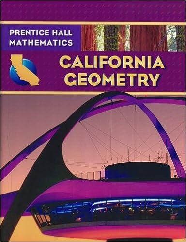 Amazon com: California Geometry (Prentice Hall Mathematics