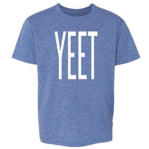 Pop Threads YEET Huge Text Funny Dank Meme Heather Royal Blue M Youth Kids T-Shirt