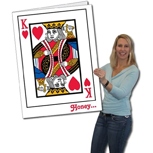 2'x3' King of Hearts Huge Valentine's Day Card W/Envelope Sales