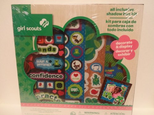 Girl Scouts Colorbok All Inclusive Scrapbooking Shadow Box Kit (Kit Scrapbook Colorbok)