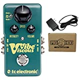 TC Electronic Viscous Vibe Guitar Effects Pedal + 9V Power Adapter Bundle
