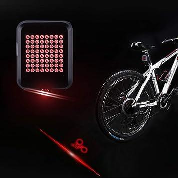 ANZQHUWAI 64 LED de dirección automática Indicador de Bicicletas ...