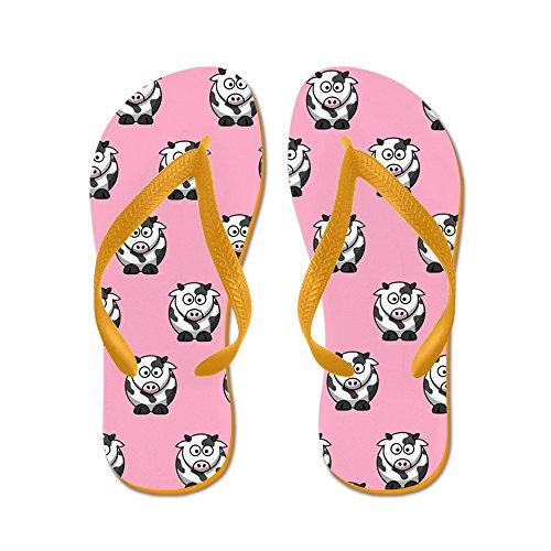Cafepress Koeien Flip Flops (roze) - Flip Flops, Grappige String Sandalen, Strand Sandalen Oranje