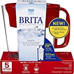 """Brita Small 5 Cup Metro Water Pitcher with Filter - BPA Free 15 SMALL WATER PITCHER: This small, plastic water filtration pitcher is easy to pour and refill. The space efficient pitcher fits perfectly on refrigerator shelves and is great for families. Height 9.8""""; Width 4.45""""; Length/Depth 9.37""""; Weight 1.39 pounds CLEANER AND GREAT TASTING: The BPA free Brita filter reduces chlorine (taste and odor), copper, mercury, zinc and cadmium impurities found in tap water for cleaner great tasting water. *Substances reduced may not be in all users' water FILTER CHANGE REMINDER: For optimum performance, a helpful status indicator on your filtered water pitcher notifies you when your water filter needs to be replaced"""