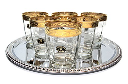 Italian Collection 'Pulsar' 10.5 oz Crystal DOF Old-Fashioned Whisky Glasses 24K - Versace Glasses Old