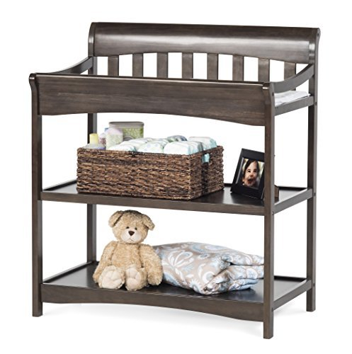 Child Craft Coventry Infant Changing Table with Pad, Slate by Child Craft