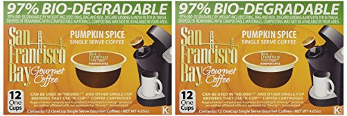 SAN FRANCISCO BAY PUMPKIN SPICE 24 ONE CUPS for Keurig K-Cup -