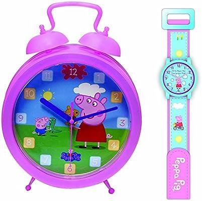 Peppa Pig relojes, Clock and Watch SET