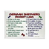 "CafePress - German Shepherd Property Laws 2 Rectangle Magnet - Rectangle Magnet, 2""x3"" Refrigerator Magnet"