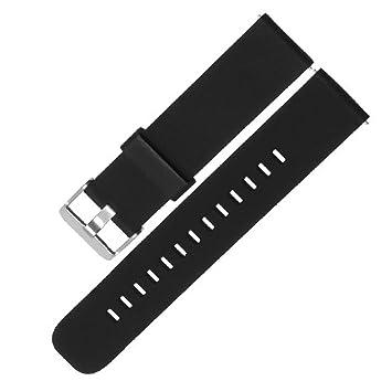 18 20 22 mm Correa Silicona, Adallor Las de Goma Ligera Liberación Rápida Watch Bandas Caucho Suave Smart Watch de Reloj Banda de Acero Inoxidable ...