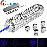 LUCHENG High Power Tactical Teaching Hunting Flashlight Pen with Blue Pointer and 5 Patterns Review