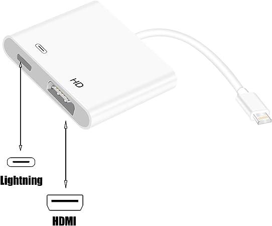 Creative-Idea Cable 8 Pin adaptador Lightning a HDMI Digital AV TV convertidor para iPhone 6 6S 7 8 Plus X iPad air pro: Amazon.es: Hogar