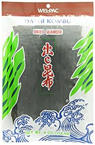 Welpac Dashi Kombu Dried Seaweed 4 oz