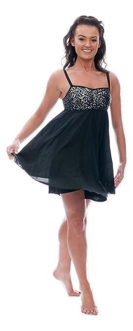 272ea1760 Katz Dancewear Ladies Girls Short Sparkly Sequin Lyrical Dress Contemporary  Ballet Modern Dance Ballroom Costume (