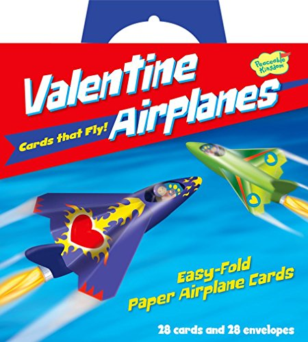 Peaceable Kingdom Valentine Airplanes - 28 ct.