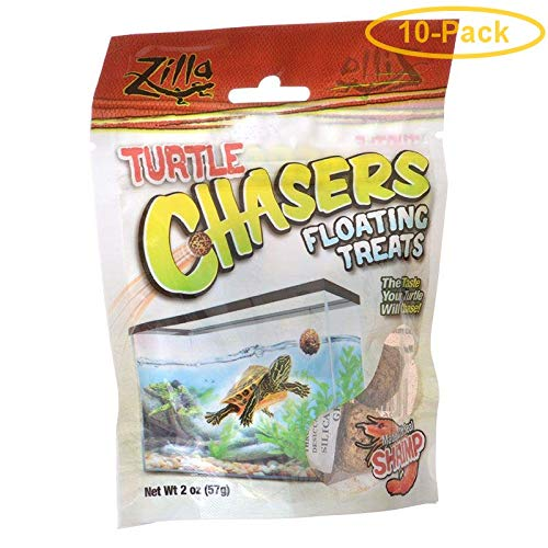 Zilla Turtle Chasers Floating Treats - Shrimp 2 oz - Pack of 10