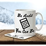 MNC_JOB_004 Be Audit You Can Be - Mug and Coaster by The Inky Penguin