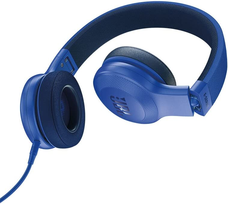 JBL E35 On Ear Signature Headphones with Mic – Blue