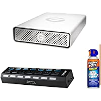 G-Technology USB 3.0 2TB Hard Drive 0G03902 + Air Duster & 7-Port USB 3.0 Hub