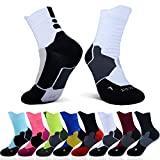 Thick Protective Sport Socks Mixed Color Cushioned Elite Basketball Compression Athletic Outdoor Crew Socks for Men Women Boys Girls US size 7~13