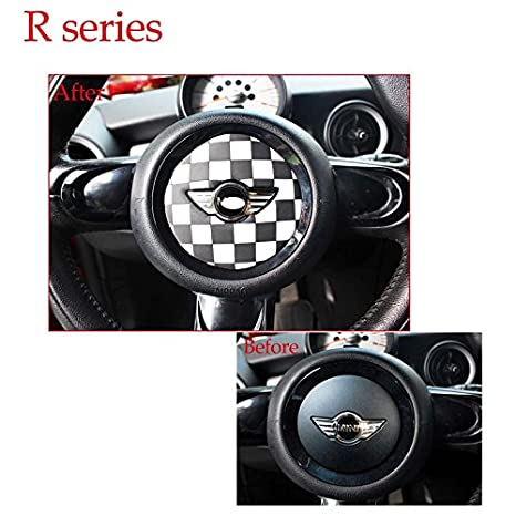 YaaGoo For Mini Cooper Fseries steering wheel decor PVC sticker Union Jack