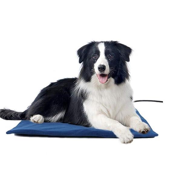 MKHDD Cojín de calefacción para Mascotas Cama de Calentamiento Impermeable Apagado automático Calentamiento Ajustable Grande Cojín de para Perros Percha de ...