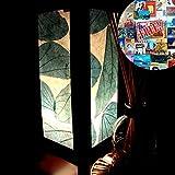 Blue Leaves Lamp Shades for Table Lamp Bedroom Home Decor Living Room Bedside Homemade Art Garden Outdoor Floor Modern Vintage Christmas Desk Lamp; Free Adapter; Us 2 Pin Plug #252