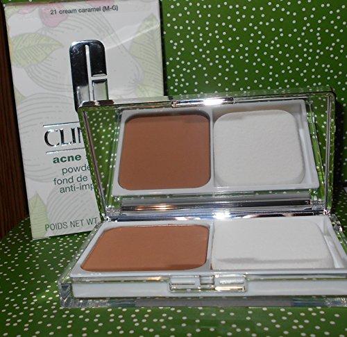 Clinique Powder Cream (Clinique Acne Solutions Powder makeup 21 Cream Caramel M-G .35 oz)