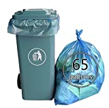 65 gallon drum liners - Lesbin 65 Gallon Outdoor Lawn Trash Bags, Blue, 60 Counts