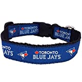 All Star Dogs Official Toronto Blue Jays Adjustable Collar Large 1in Wide 18-30-Inch
