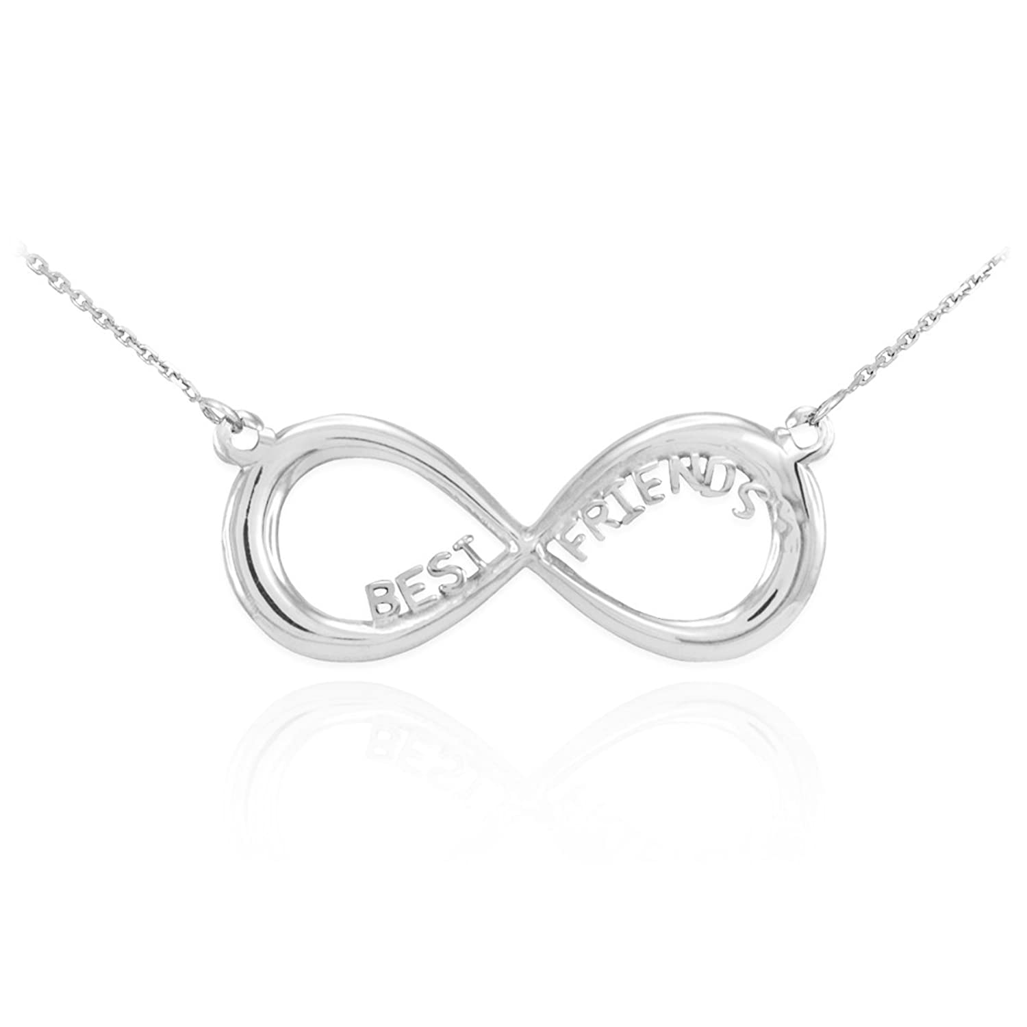 Amazon 14k White Gold BFF Best Friends Forever Infinity