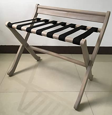 9faa7536a0cf Amazon.com: XLJ-YJ Luggage Rack Foldable Luggage Rack, Solid Wood ...