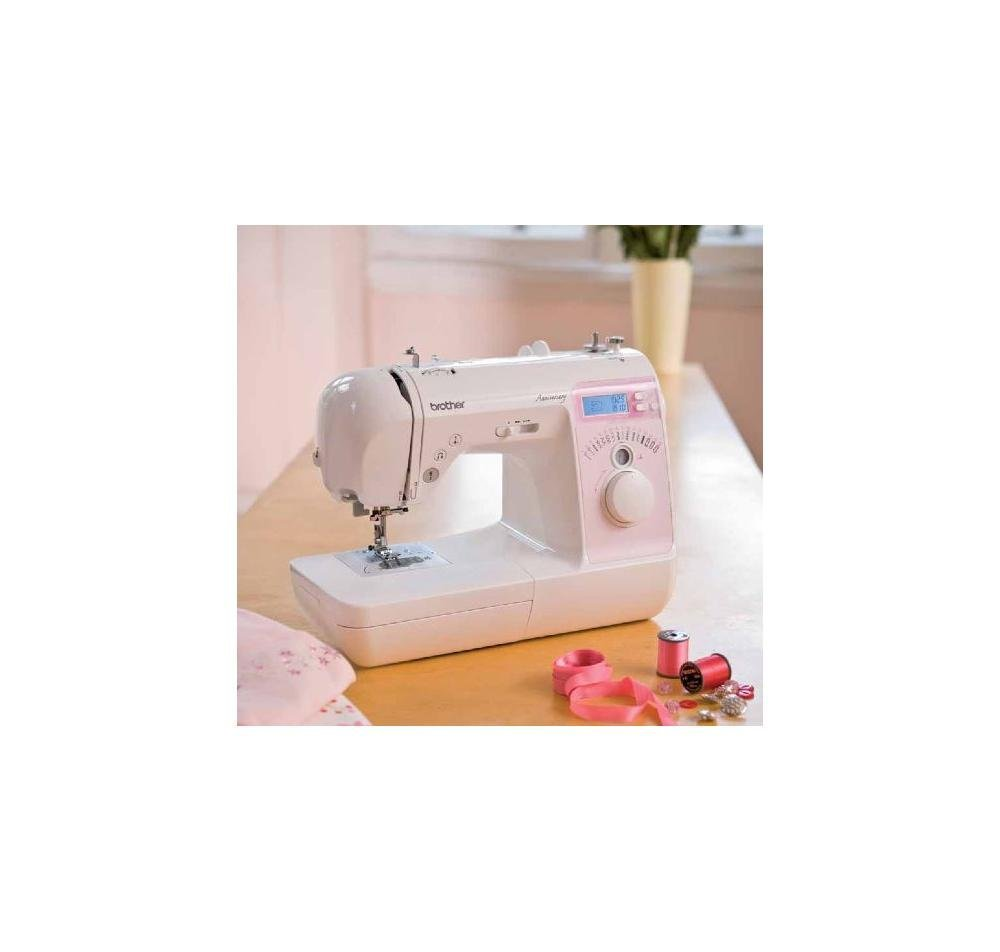 Brother Innovis 10a - Máquina de coser (LCD, 220-240V, Color blanco, 41 cm, 32 cm, 7,5 kg): Amazon.es: Hogar